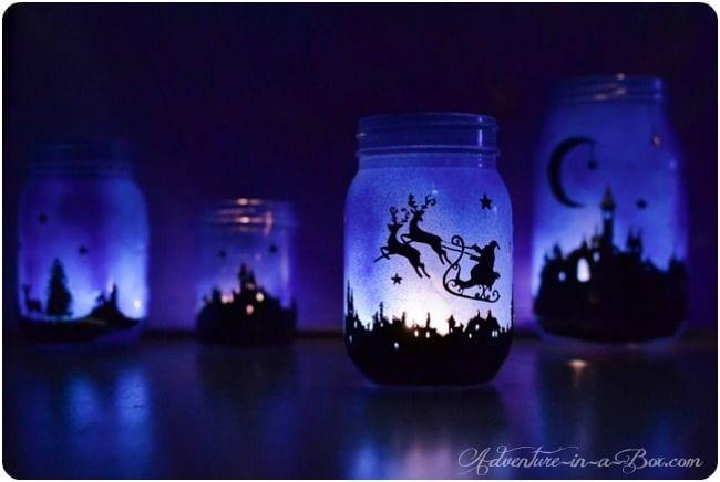 Des lanternes bleutées, juste wow! (Pinterest)