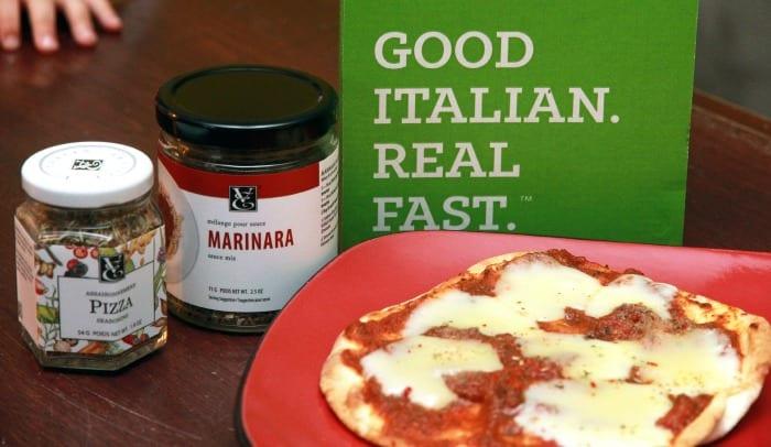 Une pizza si simple à faire avec l'ensemble Du bon italien. Vite fait.