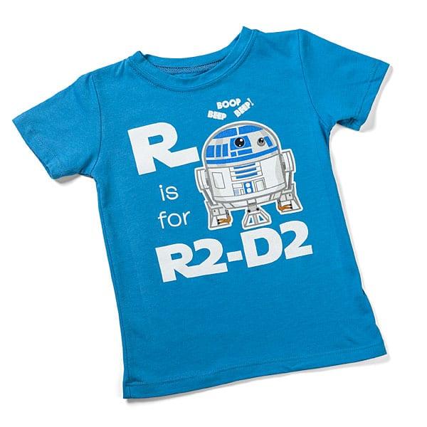 Tshirt pour enfant de R2-D2 via Think Geek