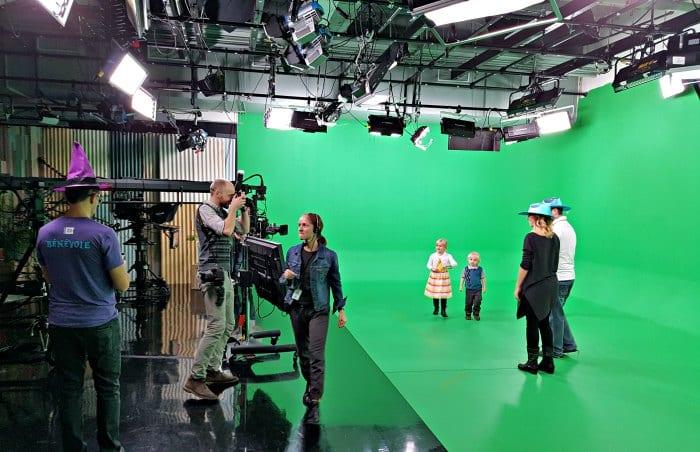 L'écran vert pour les tournages.