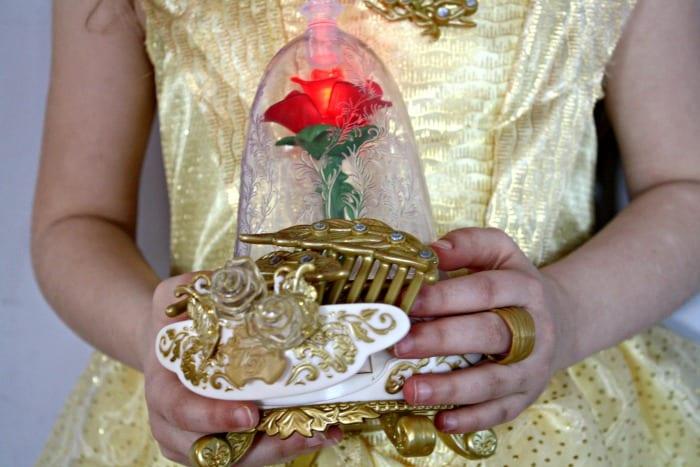 La Belle et la Bête boite à bijoux et les accessoires de Belle