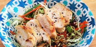 salade chou et poulet