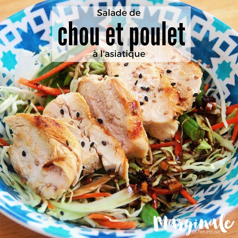 salade de chou et poulet