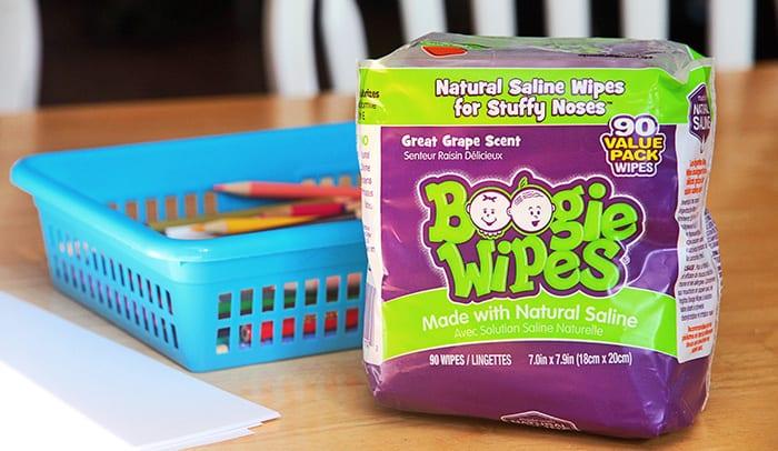 se moucher avec Boogie Wipes