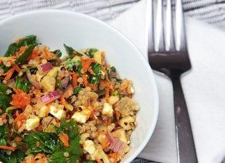 Salade automnale de quinoa