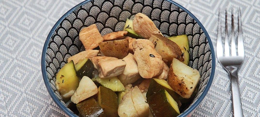poulet en sauce balsamique