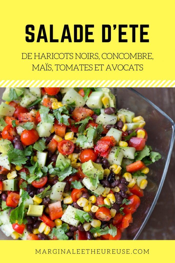 Salade de haricots noirs