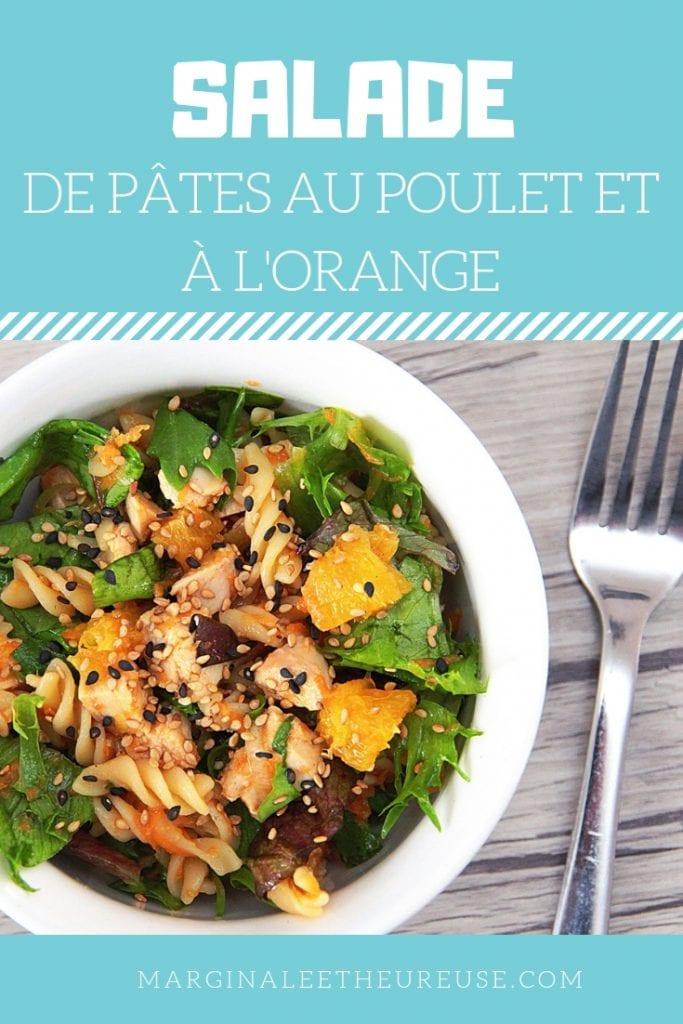 Salade de pâtes au poulet et à l'orange